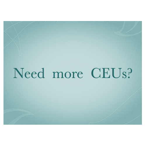 Need More CEU Tests